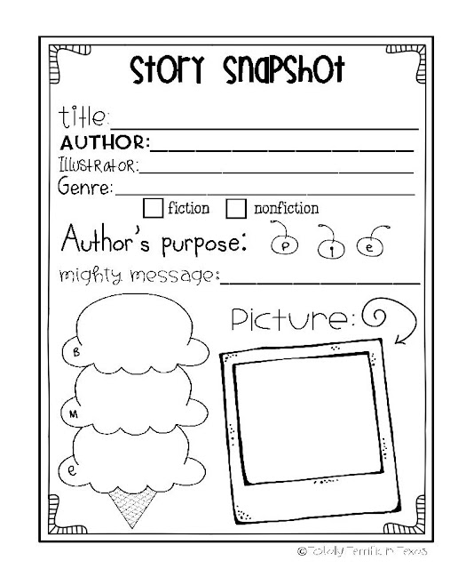 https://www.teacherspayteachers.com/Product/Story-Snapshot-A-Sweet-Reflection-536323