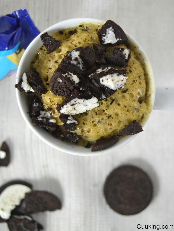 Mug cake de galletas Oreo