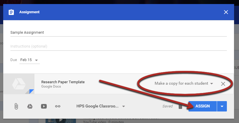 Ryan S Tech Tips Make A Copy For Each Student In Google Classroom