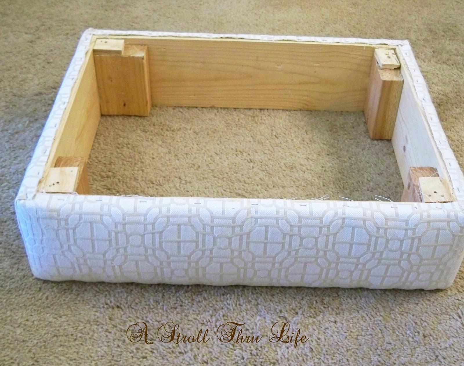 A Stroll Thru Life How To Make Amp Upholster An Ottoman
