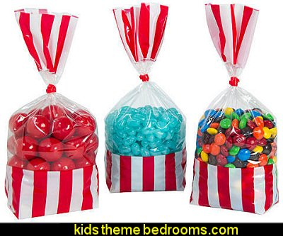 Red Striped Party Bags