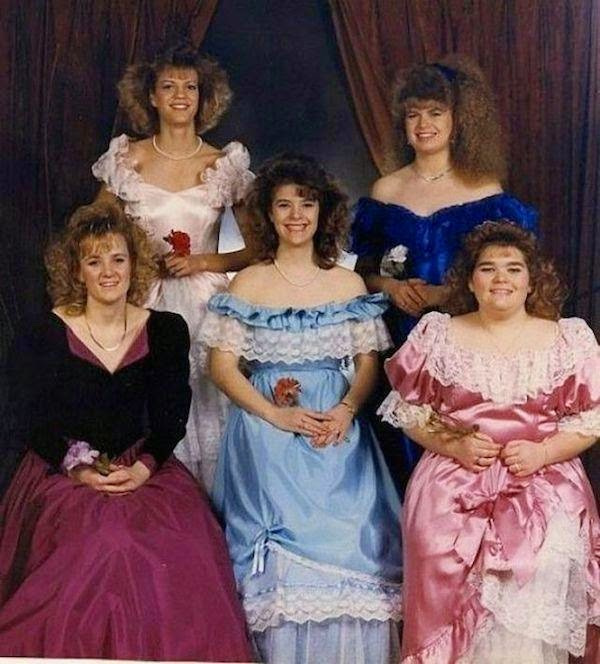 Marvelous Awkward 80S Prom Photos Morably Hairstyle Inspiration Daily Dogsangcom