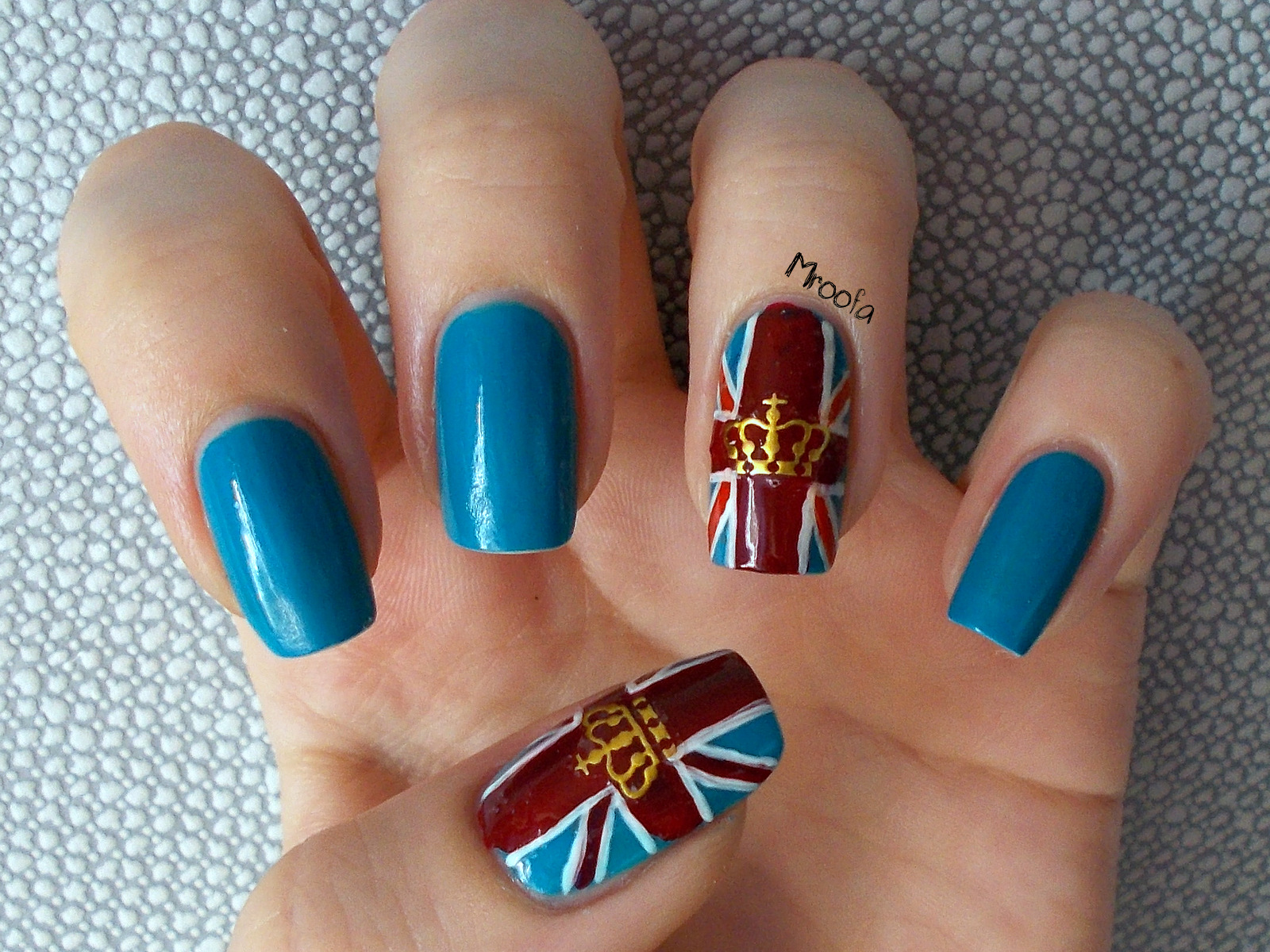British Flag Nail Art Tutorial Mroofa