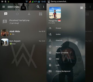 BBM MOD Thema Alan Walker Transparan v3.2.0.6 Apk Terbaru