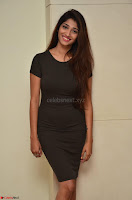 Priya Vadlamani super cute in tight brown dress at Stone Media Films production No 1 movie announcement 005.jpg