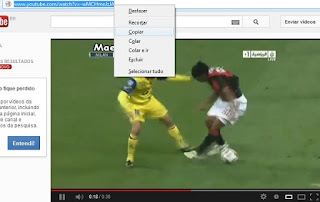 Copiando URL do YouTube