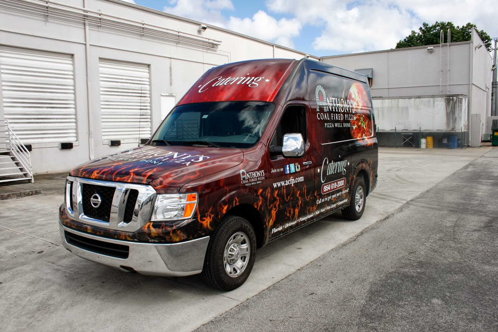 Nissan NV Van 3M Vehicle Wrap Advertising