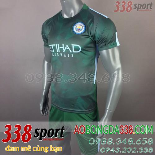 bán áo man city xanh rêu training 2018