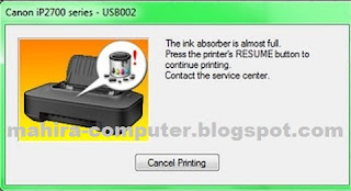How to Reset Canon Pixma IP2770