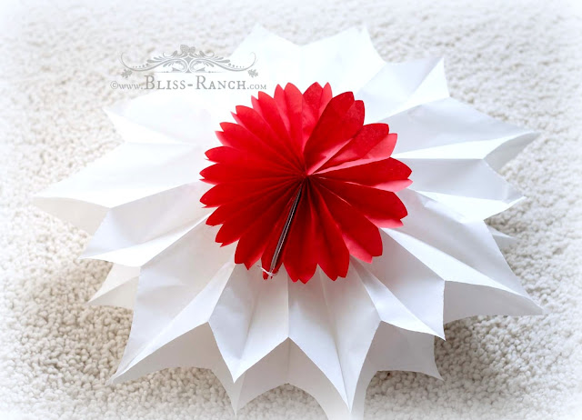 Star Decorations Made From Paper Lunch Bags, Bliss-Ranch.com