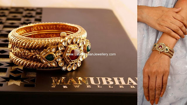 Manubhai Statement Gold Bangle