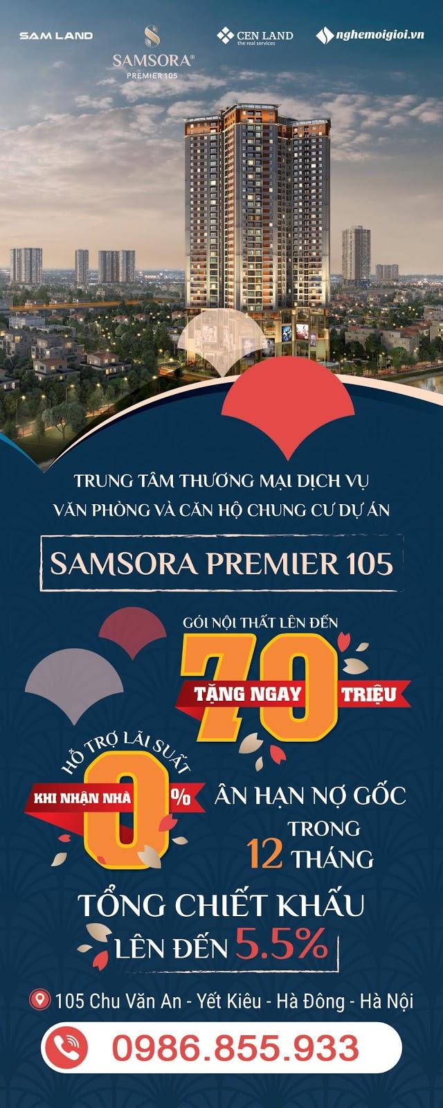Chung cư Samsora Premier 105 mở bán chỉ từ 450 triệu