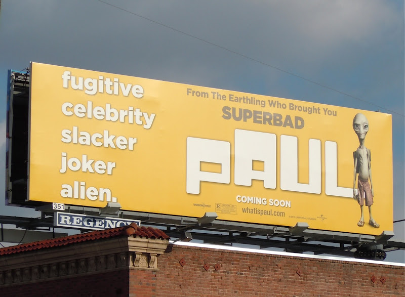 Paul movie billboard