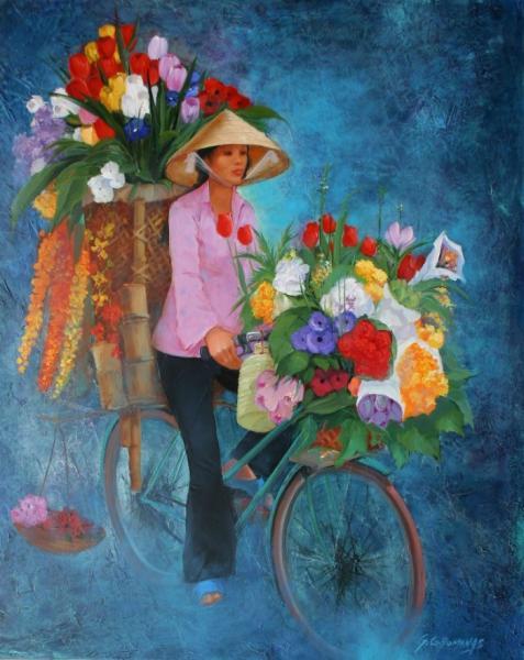 George Corominas ~ Pinturas com flores