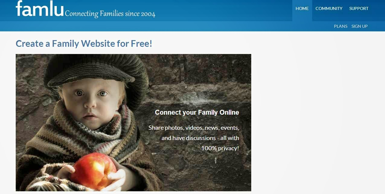 Free Family Website Creator