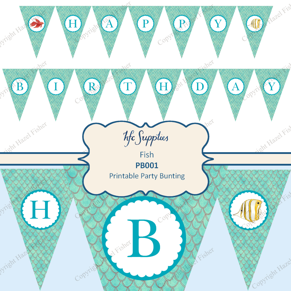 Birthday Cake Bunting Flags Printable