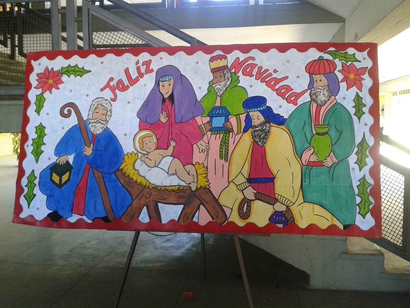 Carteleras Para La Escuela De Navidad Escuela T 201