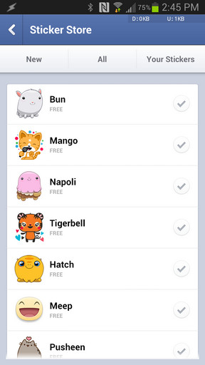 Sticker Emoji Facebook Messenger