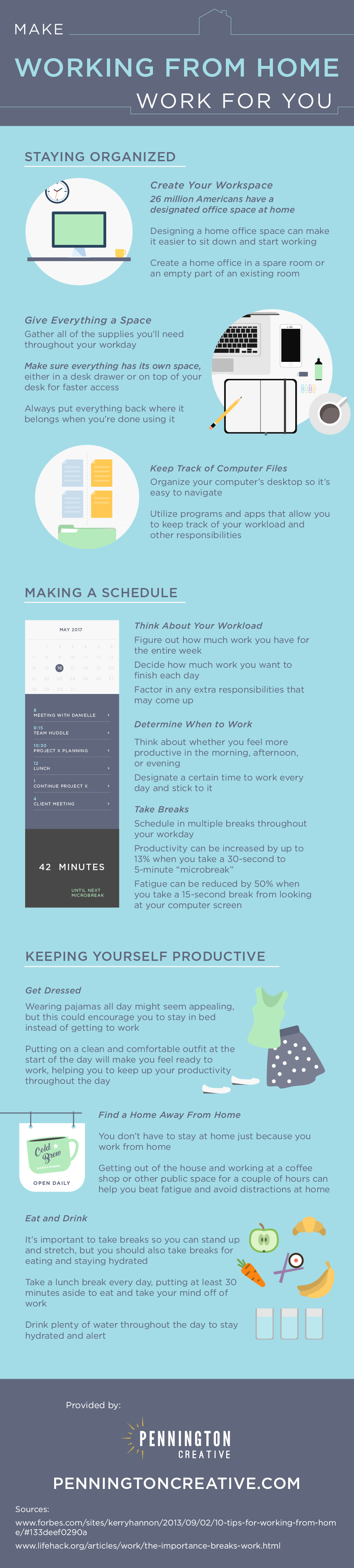 Make Working from Home Work for You - #infographic