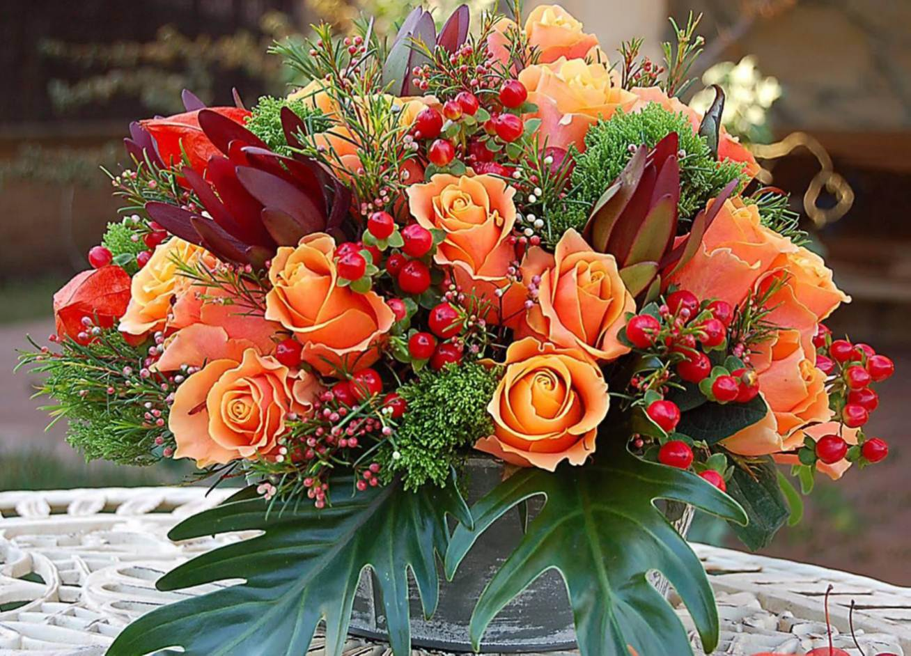Beautiful fall flower arrangements image collections flower delight your partner by sending her allanna a creative floral delight your partner by sending her izmirmasajfo