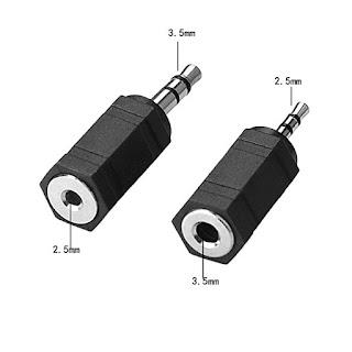 adattatore audio 2.5mm a 3.5mm 3.5mm a 2.5mm
