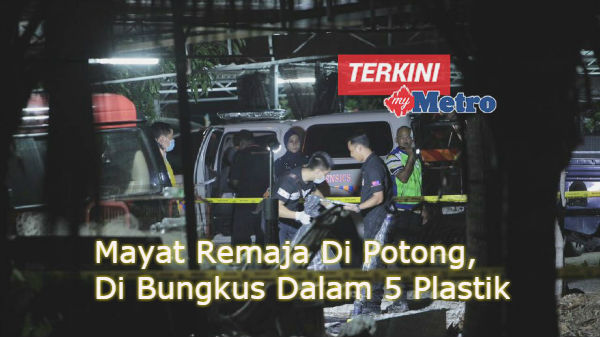 Mayat Remaja Di Potong, Di Bungkus Dalam 5 Plastik
