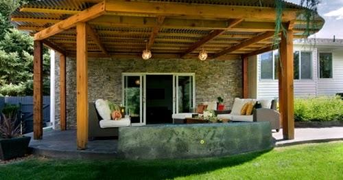 model rumah contoh desain ruang tamu unik ada di teras
