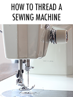 A step by step guide on how to thread your sewing machine