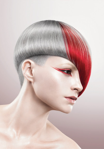 multi-colored short hairstyles