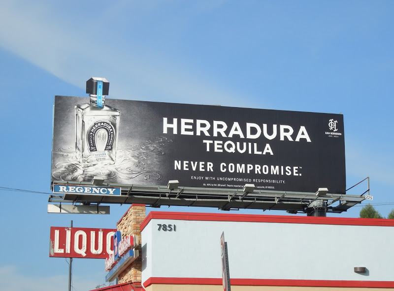 Herradura Tequila bottle extension billboard