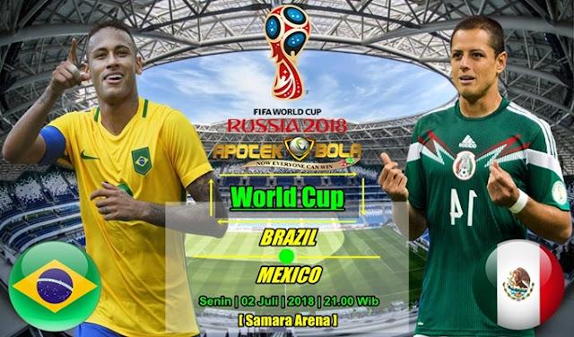 Prediksi Brazil vs Mexico 2 Juli 2018