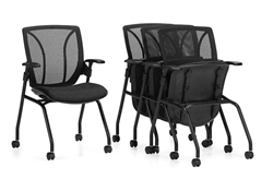 nesting chair with flip seat for training room