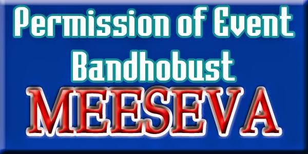 Permission of Event Bandhobust APPLY ON MEESEVA