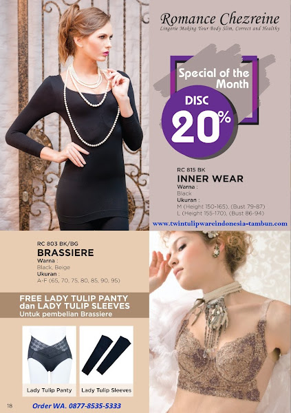Promo Diskon April 2018, Lady Tulip, Inner Wear, Brassiere
