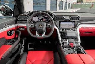 2019 Lamborghini Urus Black interior
