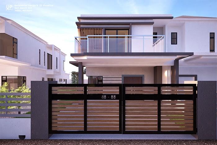 Up Creations Interior Design Architectural Interior Photography Malaysia Facade Design For Austin Hills Semi D Malaysia