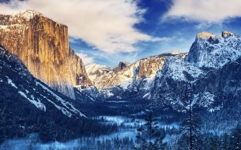 Wallpaper: Winter Morning Sunrise Yosemite Valley