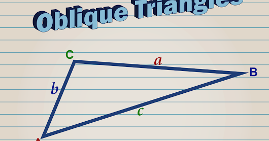 Learn to solve, easily, word problems about oblique triangles (Part 2).