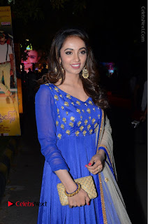 Telugu Actress Tejaswi Madivada Pos in Blue Long Dress at Nanna Nenu Na Boyfriends Audio Launch  0044.JPG