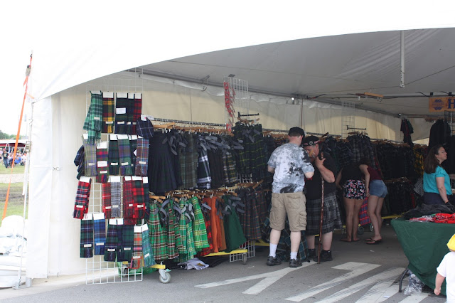 Shopping Scottish goods at the Highland Games in Itasca, IL