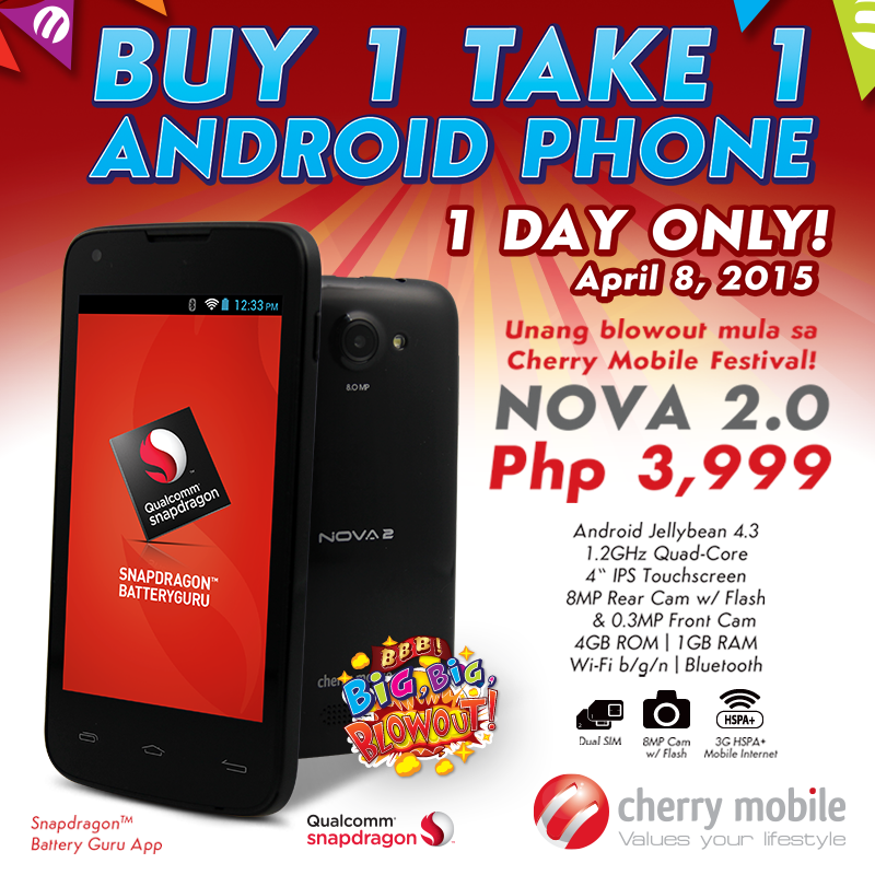 Cherry Mobile Nova 2 Buy-1 Take-1