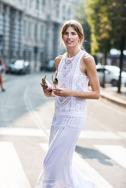 White Long dress - Veronika Heilbrunner