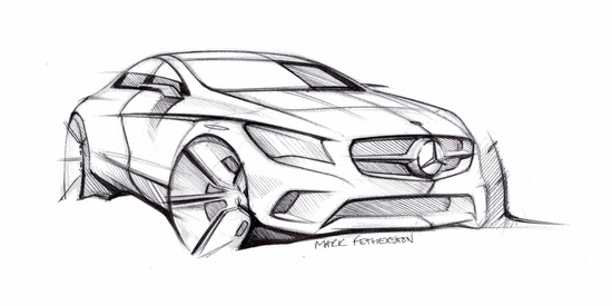 Auto Blog Repair Manual: Mercedes Benz CLA sketch and lots