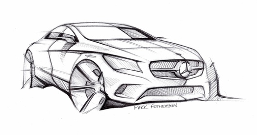 Auto Blog Repair Manual: Mercedes Benz CLA sketch and lots