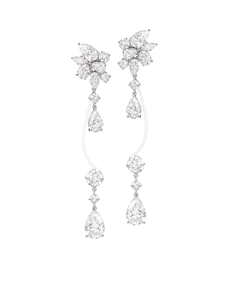 Earrings from Rihanna Loves Chopard jewelry collection