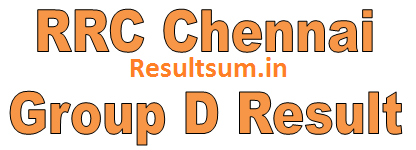 RRC Chennai Group D Result 2015