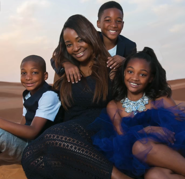Black woman with kids