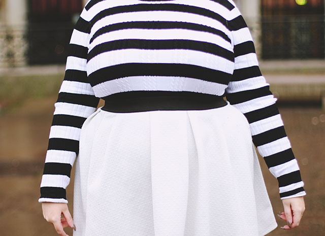Striped jumper plus size