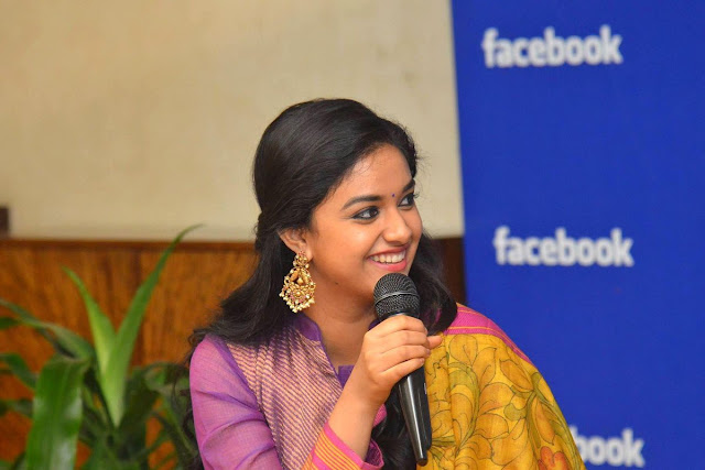 keerthi suresh latest photos at facebook office
