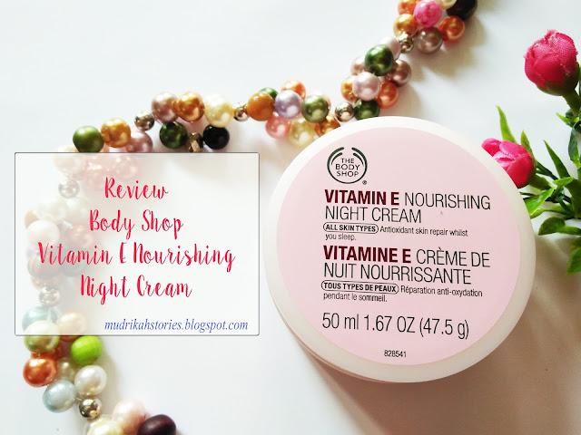 review the body shop vitamin e nourishing night cream